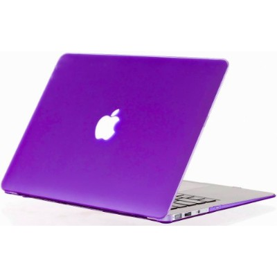 Kuzy - AIR 13-inch Elegant PURPLE ゴム引きハードケース Case Cover SeeThru for Apple MacBook Air 13.3-inch ...