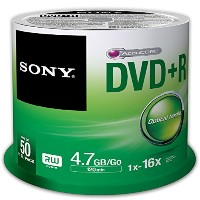 Sony 50DPR47SP 16x DVD+R 4.7GB Recordable DVD Media - 50 Pack Spindle [並行輸入品]