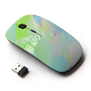 KOOLmouse [ ワイヤレスマウス 2.4Ghz無線光学式マウス ] [ Green Oil Color Blue White Paint Painting ]