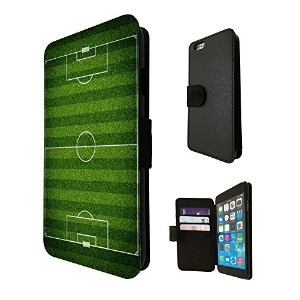 482 - Cool Football Pitch For Apple iPhone 4/4S レザー手帳型ケース ダイアリト スタンド 財布型