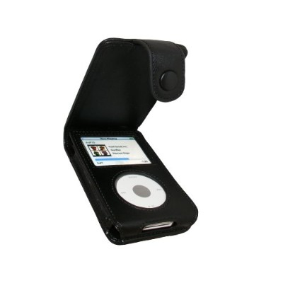 iGadgitz Black Genuine Leather Case Cover for Apple iPod Classic 80gb, 120GB & N