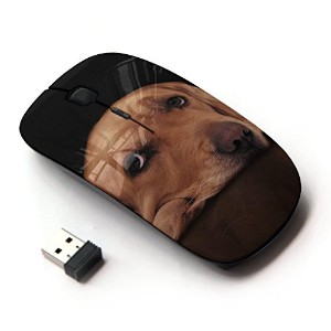 KOOLmouse [ ワイヤレスマウス 2.4Ghz 無線光学式マウス ] [ Labrador Retriever Golden Guilty Dog Eyes ]