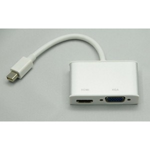 mini Displayport - VGA変換アダプタ HDMI変換アダプタ 2in1 Cyberplugs
