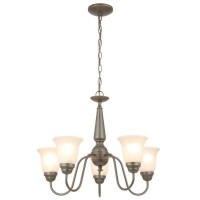 Commercial Electric 5-lightリバーシブルシャンデリアOil Rubbed bronze-ob