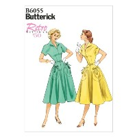 Butterick Patterns B6055 Misses' Dress and Belt Sewing Template, Size E5 (14-16-18-20-22) by...