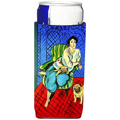Caroline 's Treasures 7072-parent Lady with her Fawn Pug Ultra Beverage Insulators forスリム缶7072 MUK、...