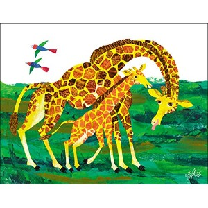 Oopsy Daisy Fine Art for Kids Eric Carleのキリン母キャンバス壁アートby Eric Carle、18x 14インチ