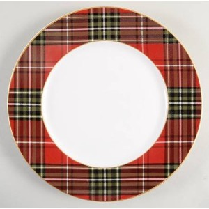 222 Fifth Plaid Serving Bowl Wexfordレッド