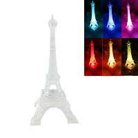 Dreamseden LED Light Upフラッシュエッフェル塔ランプ–Color Changingのパリ装飾寝室デスクケーキトッパーCenterpiece LED-Eiffel1-L