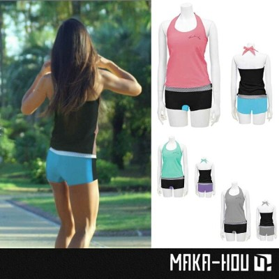 MAKA-HOU レディースラッシュガード Halter Neck with Hot Pants 23W05/71S/UVカット 紫外線対策 女性用【小型宅配便】【コンビニ受取対応商品】...