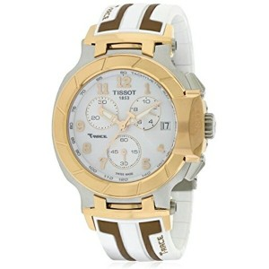ティソ Tissot 腕時計 メンズ 時計 Tissot T-Race White Dial SS Silicone Chrono Quartz Men's Watch T0484172701200