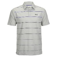 アンダーアーマー メンズ ゴルフ ウェア ポロシャツ【Under Armour Coolswitch Pivot Stripe Golf Polo】Grey Heather/Purple Chic...