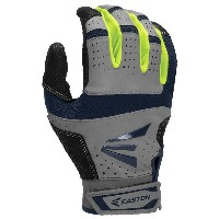 イーストン メンズ 野球 グローブ【Easton HS9 Batting Gloves】Grey/Navy/Optic Yellow