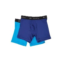 コロンビア メンズ インナー・下着 ボクサーパンツ【Athletic Performance Stretch Boxer Brief 2-Pack】Sodalite Blue/Compass Blue
