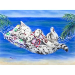 【DM便対応】Heaven And Earth Designs(HAED)クロスステッチ Heaven On Earth チャート Kayomi Harai 刺しゅう 図案 猫 キャット 海...