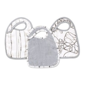 aden + anais silky soft snap bib 3 pack, moonlight by aden + anais