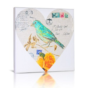 Green Frog Canvas Gallery Wrapped Art Decor, Love Note I by Green Frog