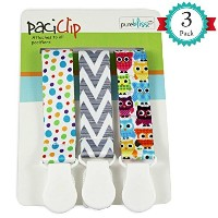 Pacifier Clips for Baby | Set of 3 | Universal Design Fits All Pacifier Styles for girls and boys...