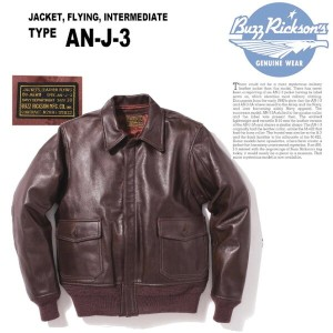 BUZZ RICKSON'S(バズリクソンズ) TYPE AN-J-3 Lot.BR80410-01)S/BROWN■訳アリ/特別価格☆