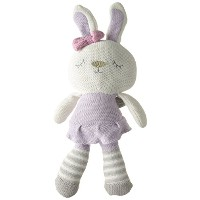 Living Textiles Violet Bunny Plush Toy by Living Textiles