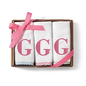 Mud Pie Initial Wash Cloth for Girl, G by Mud Pie