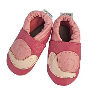 Tipsie Toes Soft Sole Baby 100% Genuine Leather Shoes PINK - Little Snail (0-6 Month (108)) by Liv ...