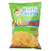 Uncle Chipps - Chips - Spicy Treat - Spicy and Potato, 30 grams Pack, India - 並行輸入品 - おじさんチップス -...