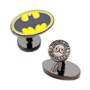 Cufflinks IncメンズエナメルOval Batman Logo Cufflinks