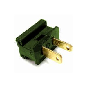 Queens of Christmas WL-PL-MPG-25 Spt-1 Slide on Male Electrical Plug, Green by Queens of Christmas