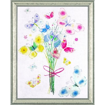 """Butterfly Bunch Counted Cross Stitch Kit-14""""X18"""" 14 Count (並行輸入品)"""