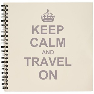 InspirationzStoreタイポグラフィ–Keep Calm and Travel On–Carry On Globe旅行–World Travelerギフト–楽しい面白いユーモアユーモラスな–Drawing Book 8x8 drawing book db_157782_1