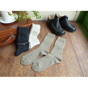 evam eva(エヴァムエヴァ) wool cashmere socks(E163Z112)
