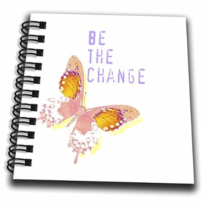 """Patricia Sanders Creations–Be The Changeバタフライインスピレーション引用符–Drawing Book 4 x 4"""" db_31422_3"""