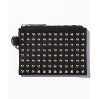 ★dポイントが貯まる★【PATRICK STEPHAN(パトリックステファン)】Leather wide coin case 'all‐studs' pointu【dポイントでお得に購入】