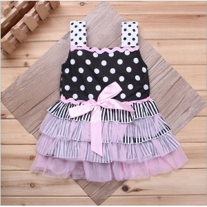 Hot Sale baby girls dress Ruffle Sundress Fashion Baby Dress Baby Clothing girls dress party dress b
