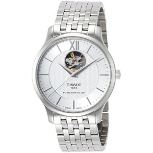 ティソ Tissot 腕時計 メンズ 時計 Tissot Tradition Silver Dial Automatic Mens Watch T0639071103800