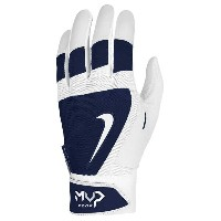 ナイキ メンズ 野球 グローブ【Nike MVP Edge Batting Gloves】White/Navy