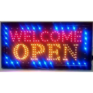 """LEDネオンライトWelcome Open Sign Withアニメーションon / offと電源on / off 2つ製スイッチforビジネスby """" E Onsale """" j08"""