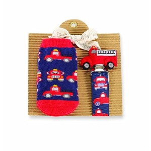 Mud Pie Fire Truck Sock and Pacy Set by Mud Pie