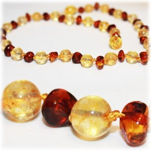 The Art of Cure Baltic Amber Teething Necklace for Baby (Honey/Citrine) - Anti-inflammatory ... by...