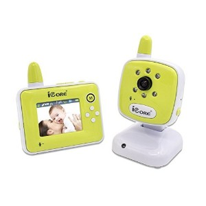 Digital Security Baby Videos Camera with Night Vision Temperature Monitoring & 2 Way Talk - Green...