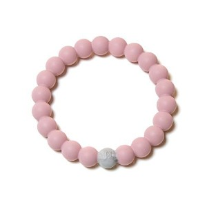 Mama & Little Linda Silicone Teething bracelet for Moms in Rose Quartz - Teething Beads and Baby...