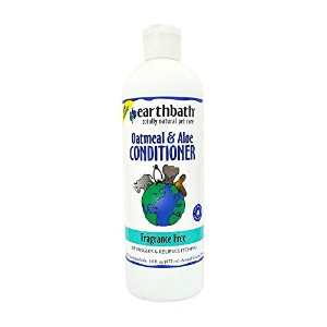EarthBath All Natural Fragrance Free Oatmeal Aloe Conditioner for Pet Dogs 16z