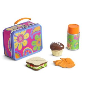 American Girl Julie 's School Lunchbox Lunch Set for Dolls