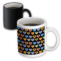 3dローズInspirationzStore Romance and Loveコレクション – Groovyカラフルハートパターン – Rainbow Love Hearts – Cool...