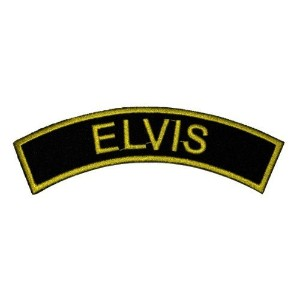 1.6 x 4.7 Elvis Presley DIY Applique Embroidered Sew Iron on Patch by Poly patch