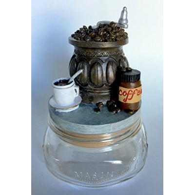 Coffee BeansアンティークGrinder Paperweight、CandleまたはJarトッパー蓋