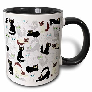 3dローズJanna Salak Designs猫 – Kawaii猫 – Cute Kitty印刷 – マグカップ 11 oz ホワイト mug_110774_4
