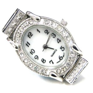 Linpeng Internationa Watch Face Frame, 24 by 30mm, Silver with Rhinestone Edge by Linpeng Internatio...
