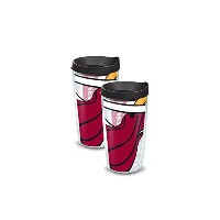"""Tervis 1084565"""" NBA Miami Heat """" Tumbler withブラック蓋、ラップ、16オンス、クリア"""